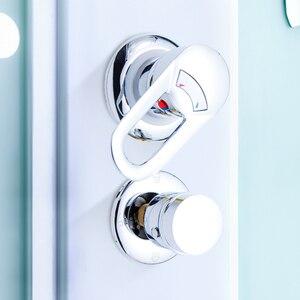 Image 5 - 2/3/4/5 yollu duş anahtarı kontrol pirinç duş musluk mikser duş kabini aksesuarları duş vana saptırıcı musluk