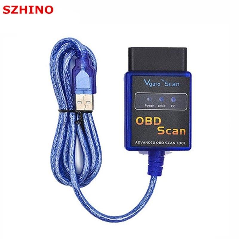Vgate ELM327 USB OBD Scan USB De Diagnostic Scanner Travail Avec OBD2 Véhicules Vgate ELM 327 USB OBD2 Scan
