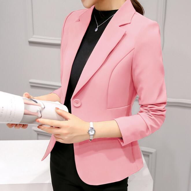 New Arrivals Women Blazer 2018 Fashion Single Button Blazer Women Suit Jacket black/red Blaser Female Blazer Femme ...