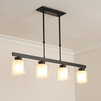 Luces colgantes modernas Set luces de Cocina LED lámpara ...