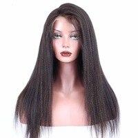 180% плотность полный шнурок человеческих волос парики для Для женщин бразильский Реми яки прямо парик предварительно сорвал спереди с ребен