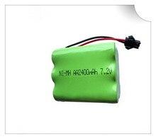 1 unid 7,2 V batería 2400 mAh ni-mh batería 7,2 V pilas recargables nimh 7,2 V aa tamaño ni mh para rc coche juguete herramientas eléctricas