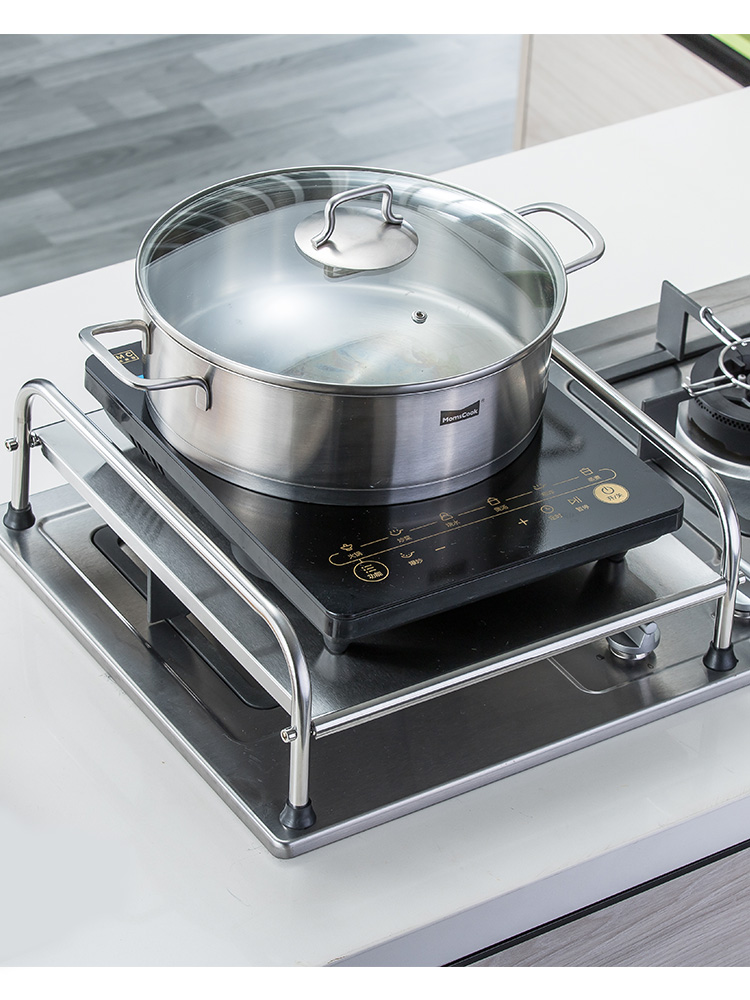 Inox Induction Cooker Shelf Support Table Kitchen Gas Stove Cover Base Multifunctional Stove Holder Kitchen Appliances