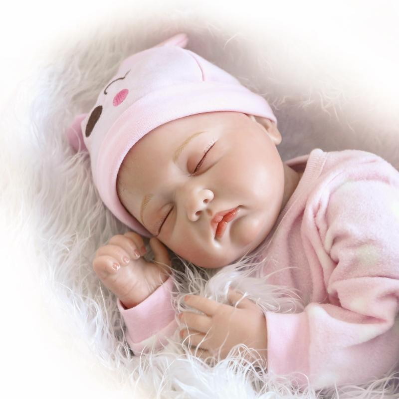 22inch 55CM Silicone Reborn Babies Dolls Soft boneca bebe reborn realista katekyo hitman reborn sleeping dolls girls gifts beibehang custom photo floor painted