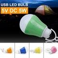 DC 5V LED Lamp USB Bulb Light 5W Bubble Ball Camping Lampada Bombillas Led Portable Emergency Long Life Expectancy Night Light