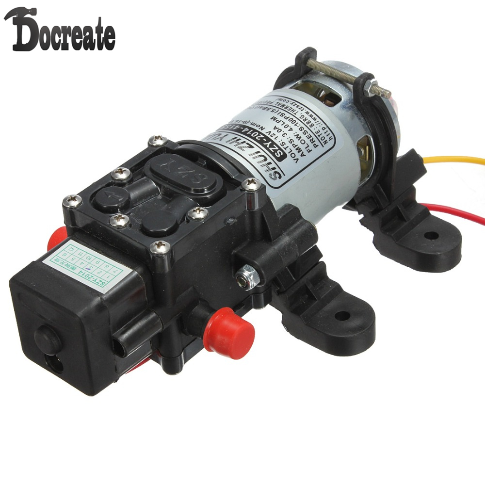 12V DC 4L/Min 100PSI High Pressure Diaphragm Water Pump 12v dc 4l min 100psi high pressure diaphragm water pump
