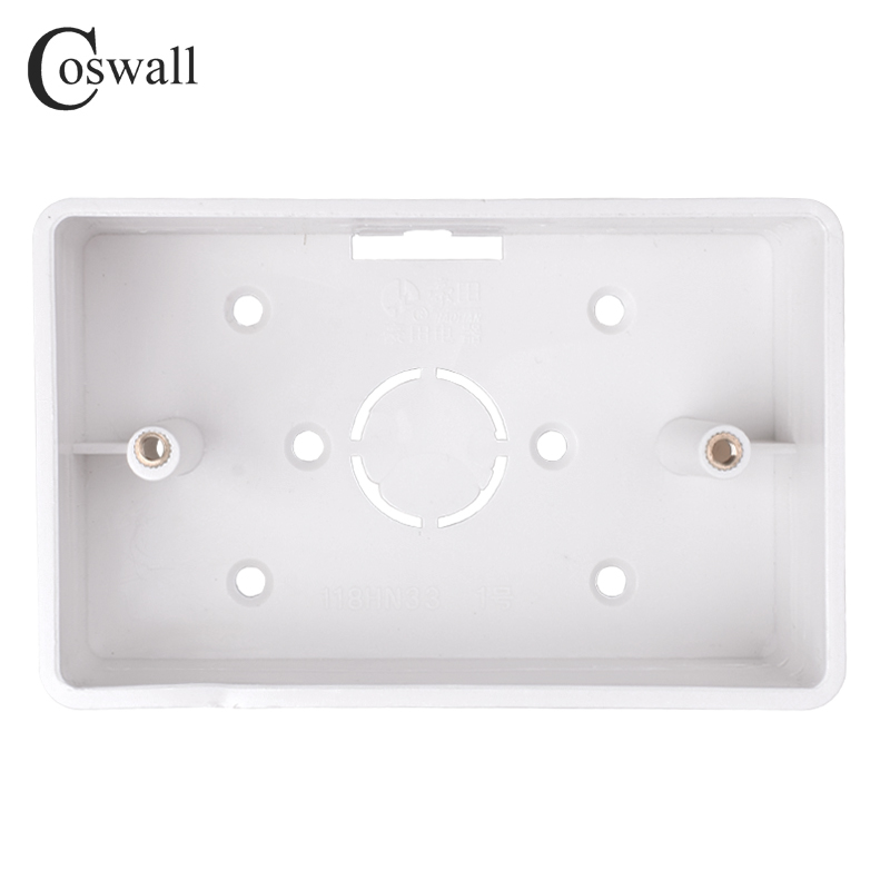 Coswall External Mounting Box 117mm*72mm*33mm For 118*72mm Standard Switch And Socket Apply For Any Position Of Wall Surface