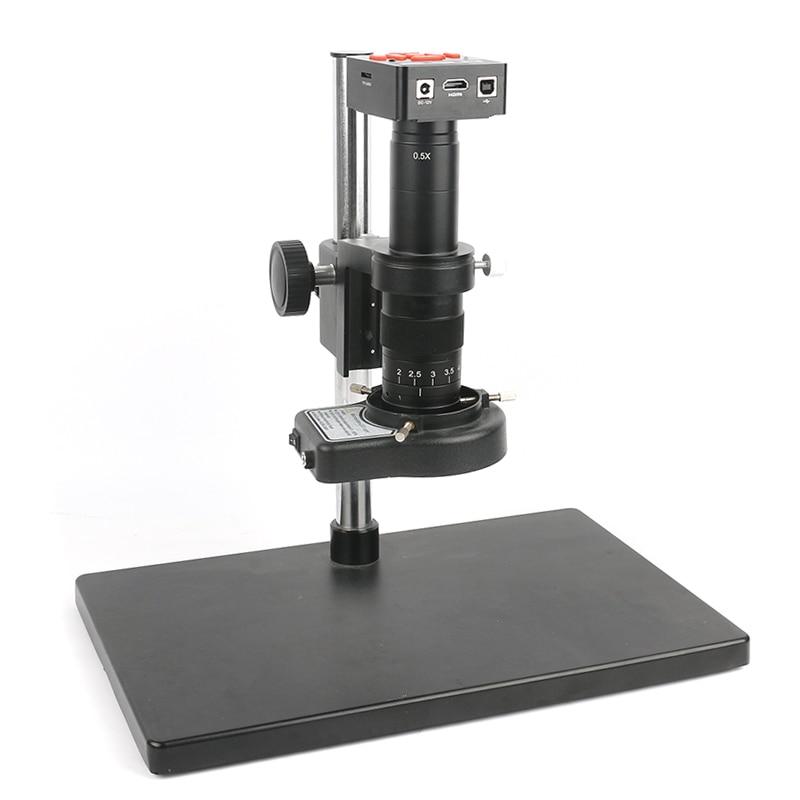 HDMI Microscope Camera Set 20MP 1080P 60FPS High Speed Video Microscope 180X/300X C-Mount Lens +Big Stand +144 LED Ring Light недорого