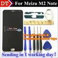 Alta qualidade new display lcd + assembléia tela de toque digitador para meizu m2 note telefone 5.5 de polegada 1920*1080 cor preto