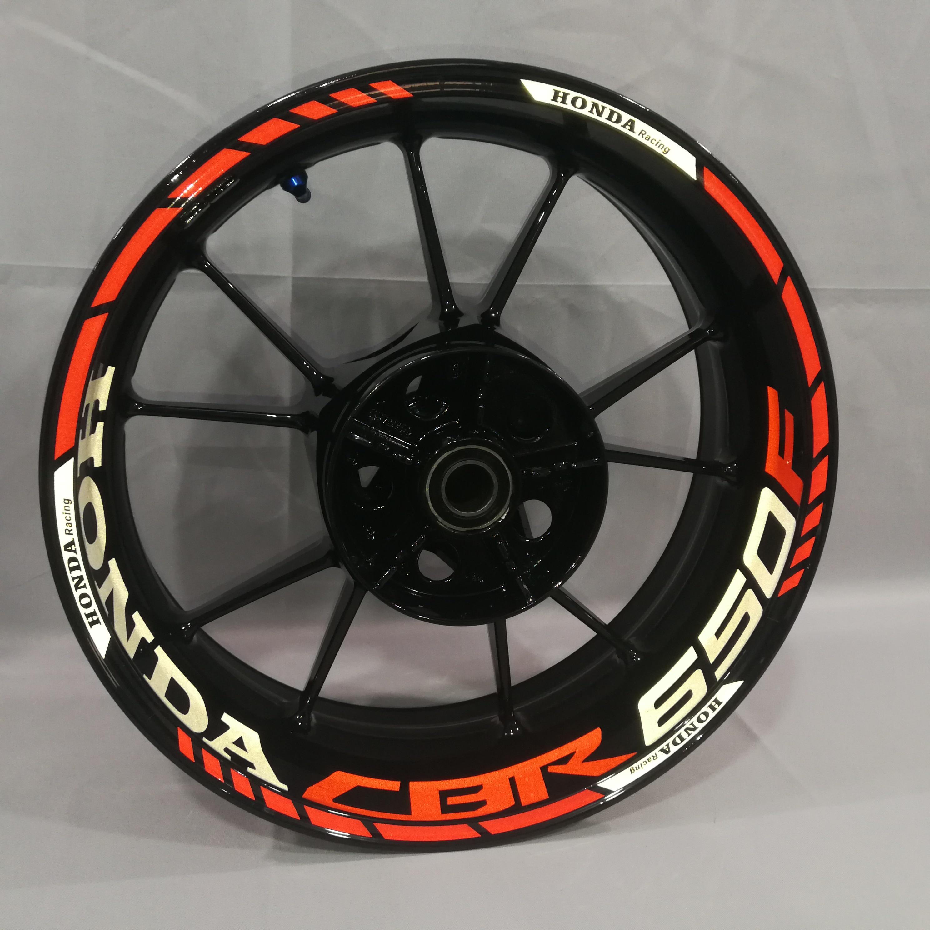 For Honda CBR650F Motorcycles Wheel Stickers Waterproof Reflective Rim Decals Front & Rear Custom Inner Rim