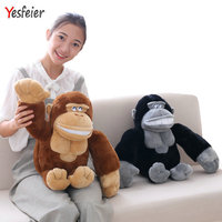 50cm Cute monkey plush toys black/brown big orangutan plush doll stuffed animals pillow birthday gift for boy