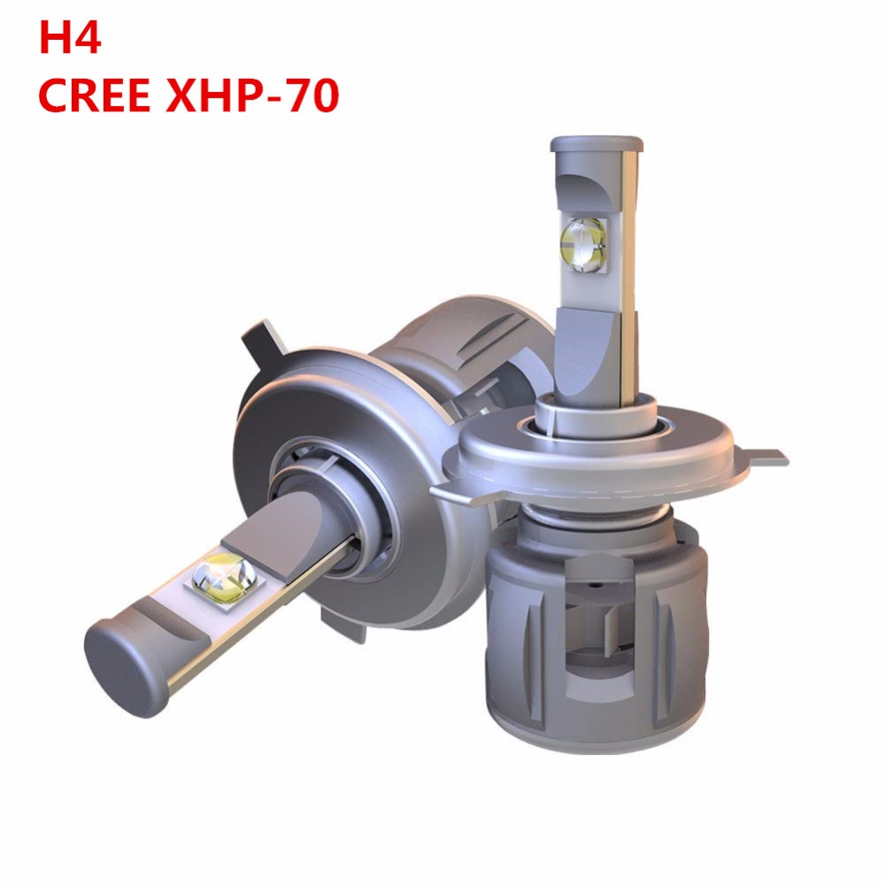 Set H4 H7 9005 9006 H11 H1 9012 D1S D2S D3S D4S X70 LED Headlight Fog 120W Lens Bulb Cree XHP 70 CHIPS White For Car VOITURE LED