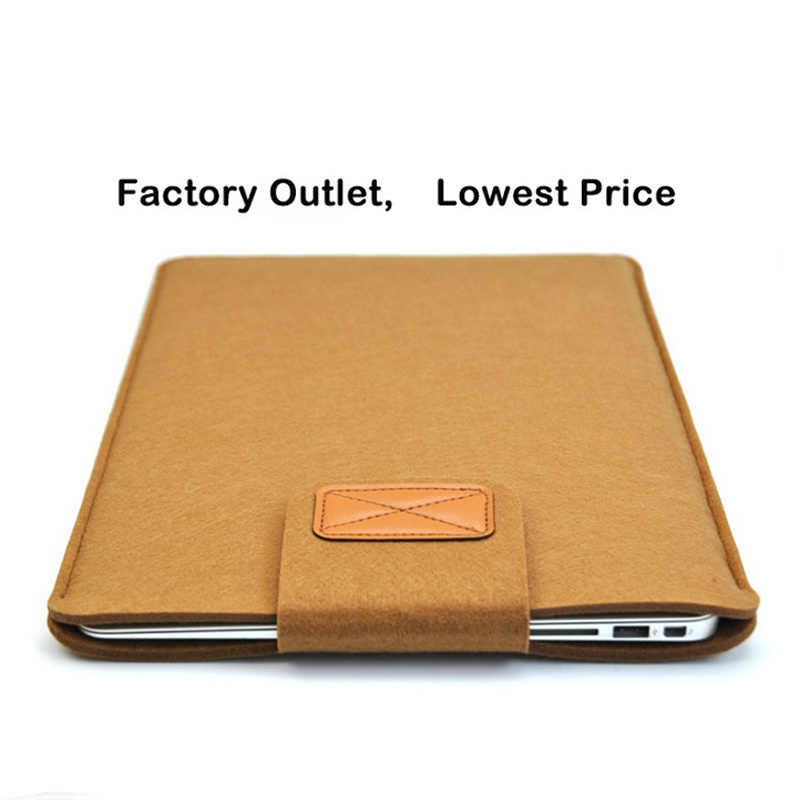 11 12 13 14 15 polegada Feltro de Lã Inner Notebook Laptop Sleeve Case Bag Bolsa de Transporte Para Macbook Air/ pro/Retina