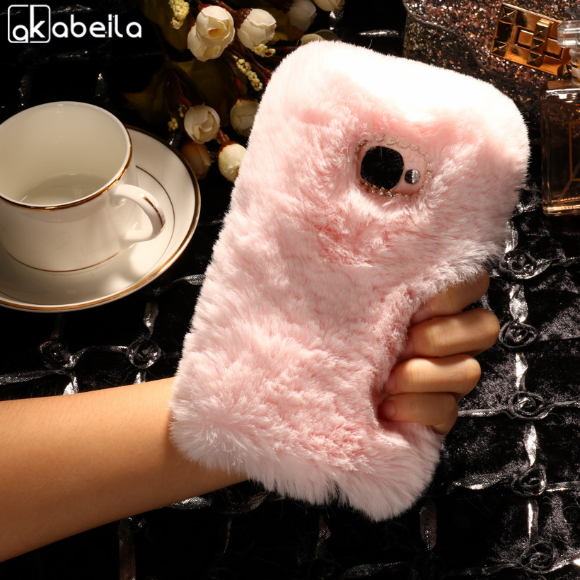 AKABEILA Silicone Phone Case Cover For LETV LeEco Le 2 Pro X20 X25 Le 2 X620 X621 X526 X527 Le S3 Case Rabbit Fur Hair TPU Cover