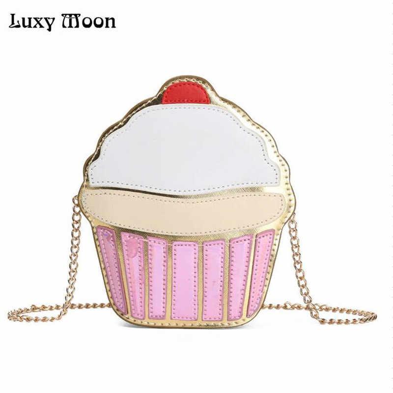 Cute  Colorful Cake Funny Sling Bag Pearl Lipstick Shoulder Bags Crossbody