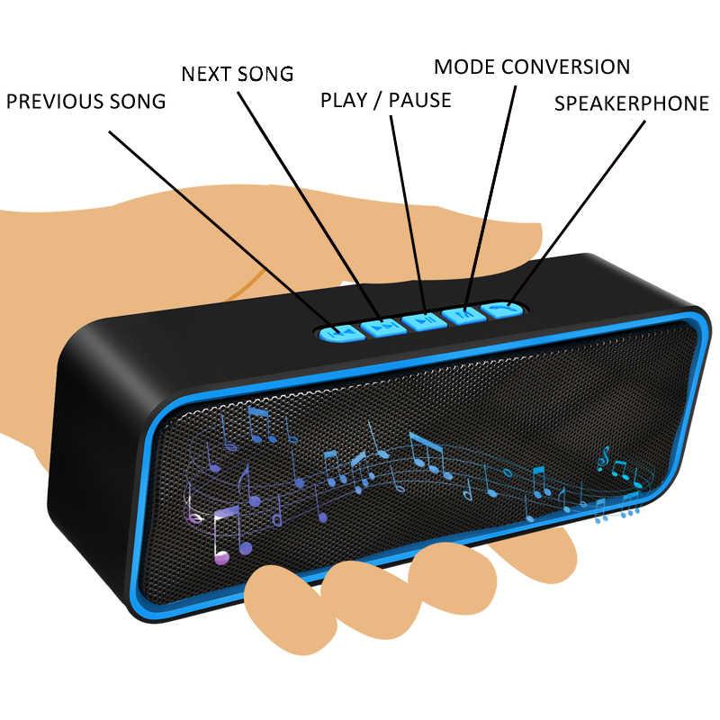 Ini Speaker Bluetooth IPX7 Tahan Air Portable Speaker 20 W Komputer Speaker Subwoofer Mini Speaker Suara Pengeras Suara Handfree Juga