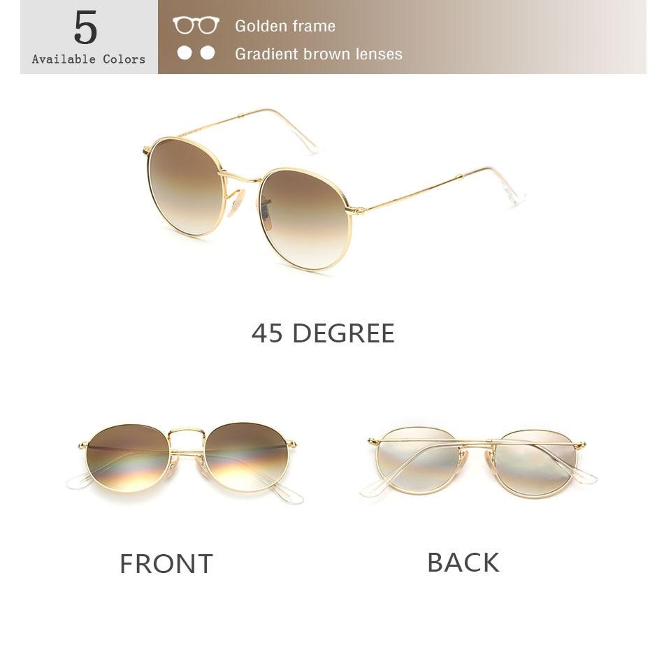 HTB1nOPycL2H8KJjy1zkq6xr7pXaO - Luxury Round Sunglasses Women Brand Designer 2018 Retro Sunglass Driving Sun Glasses For Women Men Female Sunglass Mirror 3447