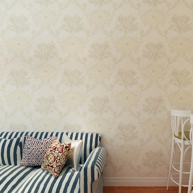 Rustic Wallpaper Pink Vinyl Rustic Floral Wallpaper With - Light pink wallpaper for bedrooms