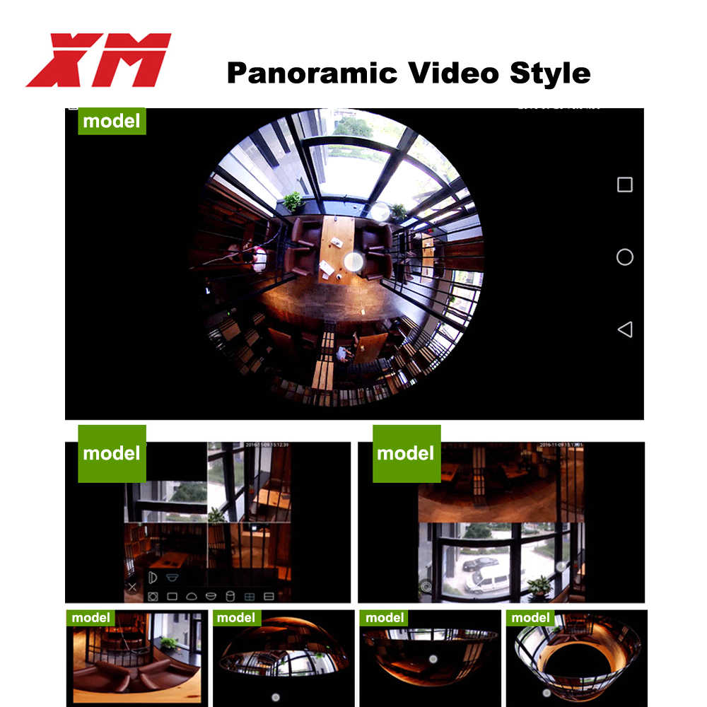 Nieuwe HD Fish eye WiFi Camera Panorama 360 graden ip camera Lamp Home security camera VR 360 mini Camera draadloze 1.3mp 960 p