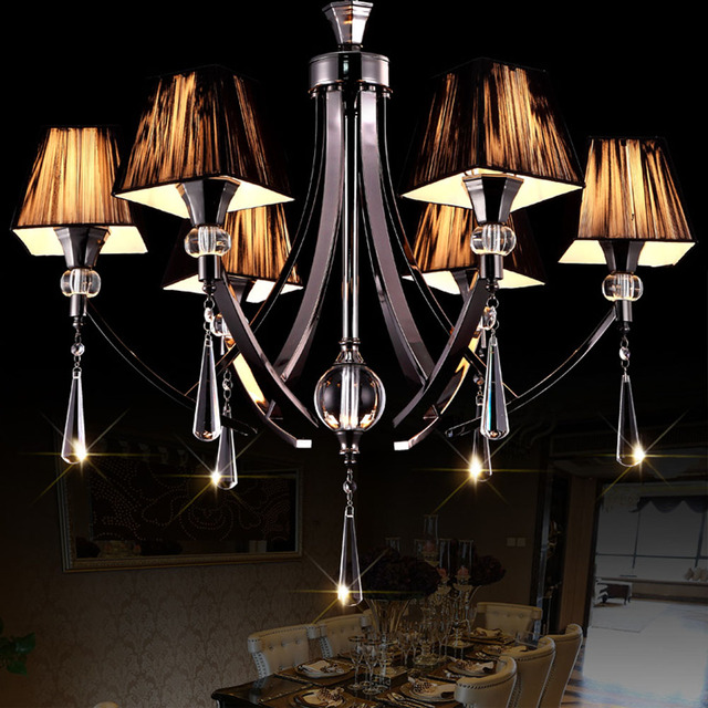 Aliexpresscom Buy HGHomeart Luster Design Black Iron Chandelier