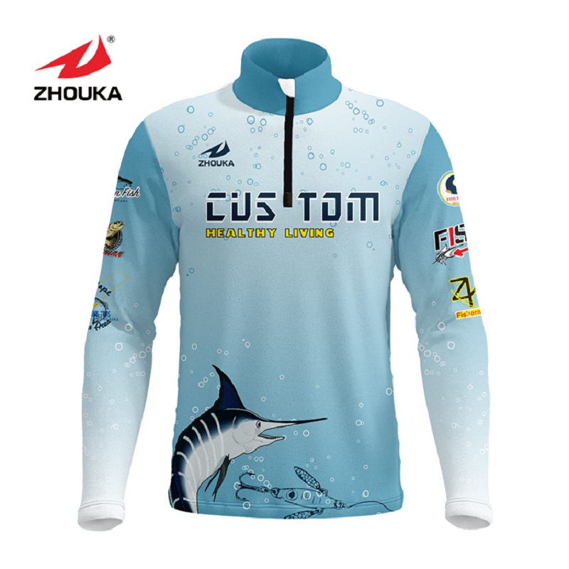 Image 3 - Marshal Customized Men Fishing Jerseys T Shirts Sublimation Printing Name Number Breathable Fishing Shirt Camisa Para Pesca-in Fishing Clothings from Sports & Entertainment