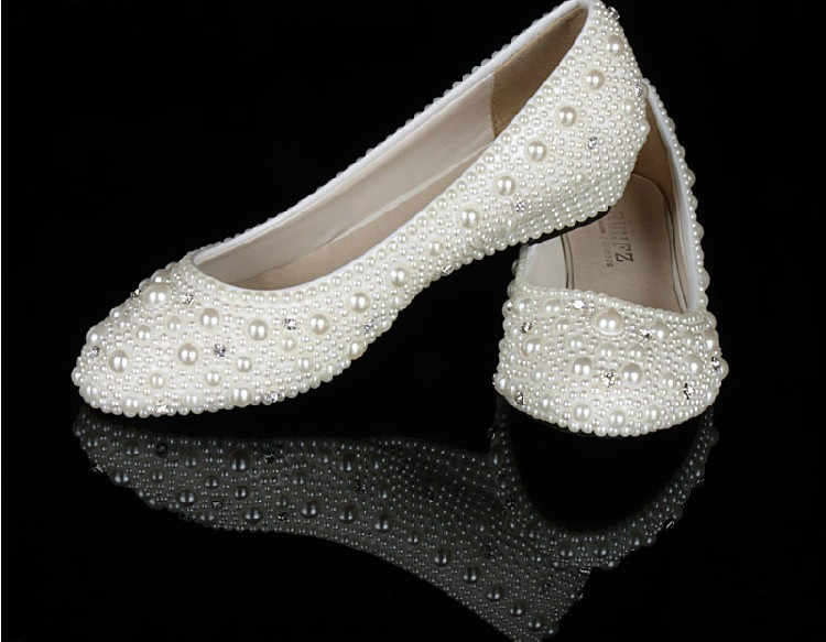 Elegant Wedge heel Wedge Heel Wedding Bridal Shoes bridesmaid Shoes ...