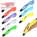 Creativa 1.75mm abs/pla diy smart 3d impresión graffiti pen led/lcd 3d pen pintura mango para los niños de dibujo diseño