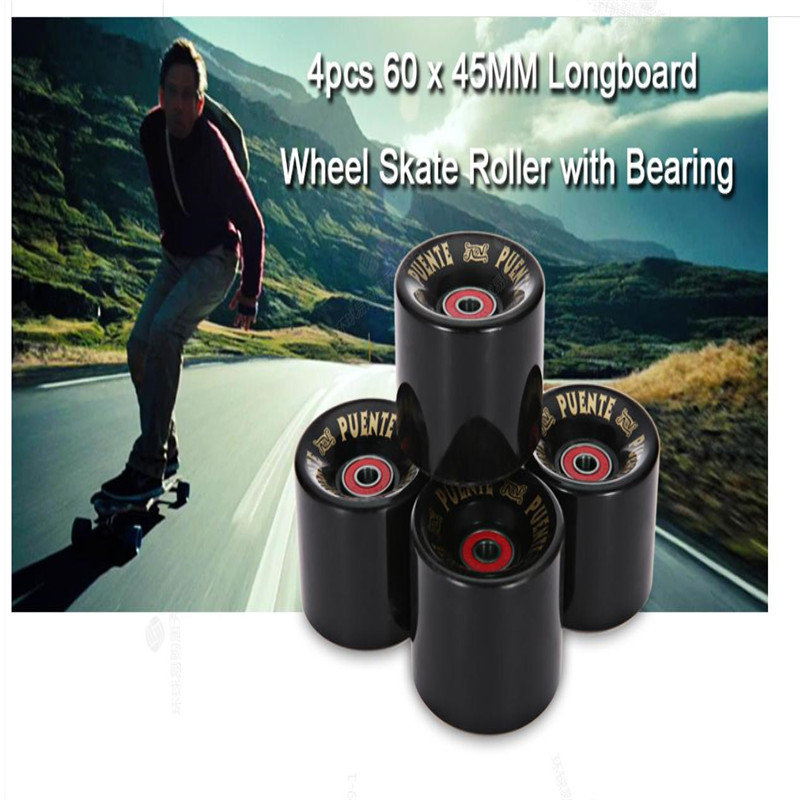 High Quality 4pcs 60 x 45MM Cruiser Skateboard Wheels Durable PU Wheels Longboard Cruiser Wheels With ABEC-9 Bearings