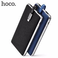 100 Original HOCO Portable Power Bank 10000mAh Mobile Power Supply Aluminum Polymer Powerbank For Xiaomi Iphone