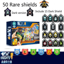 цена на Nexoe Knights Rare Shields Model Building Blocks Castle Warrior Toys For Children Compatible Nexus Scannable