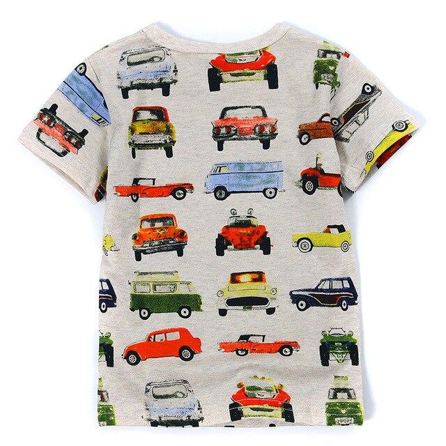 V-TREE; летние рубашки для мальчиков; хлопковые детские футболки; цветные топы для девочек; детская блузка с короткими рукавами; футболки для малышей; одежда для малышей - Цвет: gray car