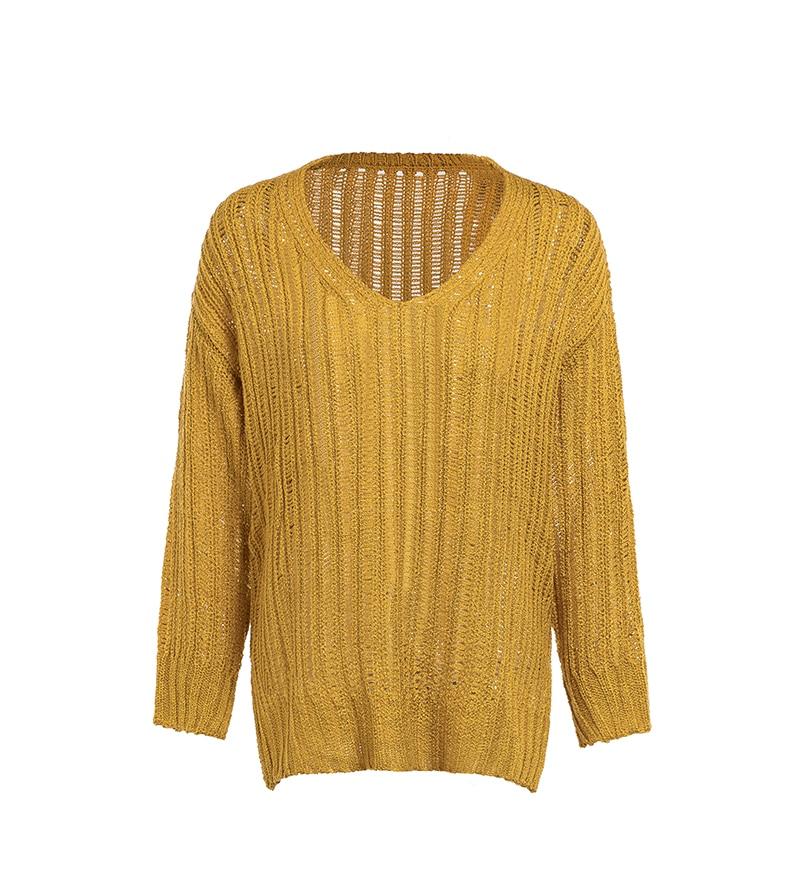 Everkaki Women Solid Knit Boho Sweaters Pullovers Long Sleeve Standard Cardigans Bohemian Holiday Female 2018 Autumn New (11)