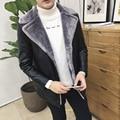 Плюс размер L-8XL мужские зимние кожаные куртки бренд одежды мода стиль кожаная куртка мужчины jaqueta де couro мужская искусственного меха пальто
