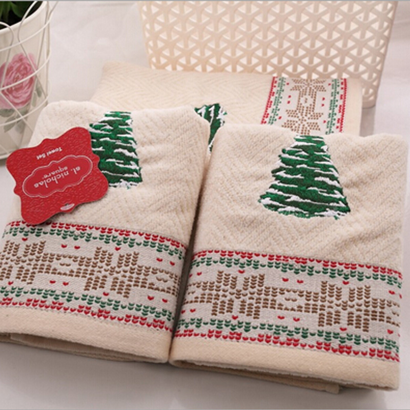 christmas bathroom towels set of 3