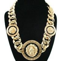 Max Colares Bijuterias Corrente De Ouro Masculina 18K Gold Lion Necklace Hip Hop Neckless Men Collier