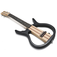 4 Strings 26 inch Ukulele Acoustic Electric Little Guitar Double channel output of the Earphone and Speaker Ukulele