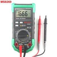 MASTECH MS8269 цифровой мультиметр AC DC Вольт Ампер Ом Кепки нескольких тестер 20 mH ~ 20 h индуктивность метр- 20 ~ 1000C термометр