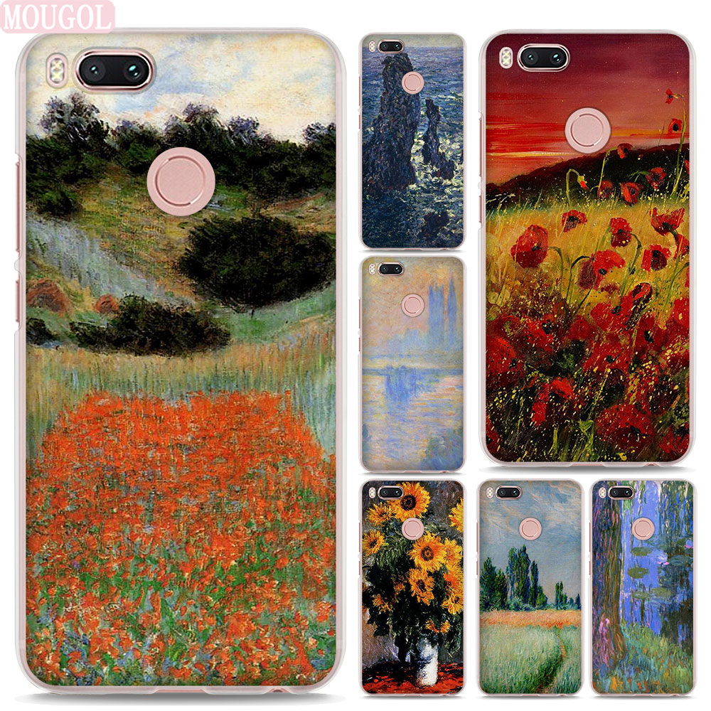 MOUGOL oil painting Claude Monet design hard clear Phone shell Case for Xiaomi Mi A1 5X  ...