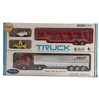 Crianças Brinquedo Modelo de Carro Carro de alta Qualidade Kits de Presente Grande Recipiente de Plástico caminhão Com Caixa de Cor Presentes de Luxo Pequeno Carro Liga Brinquedo Dinky modo