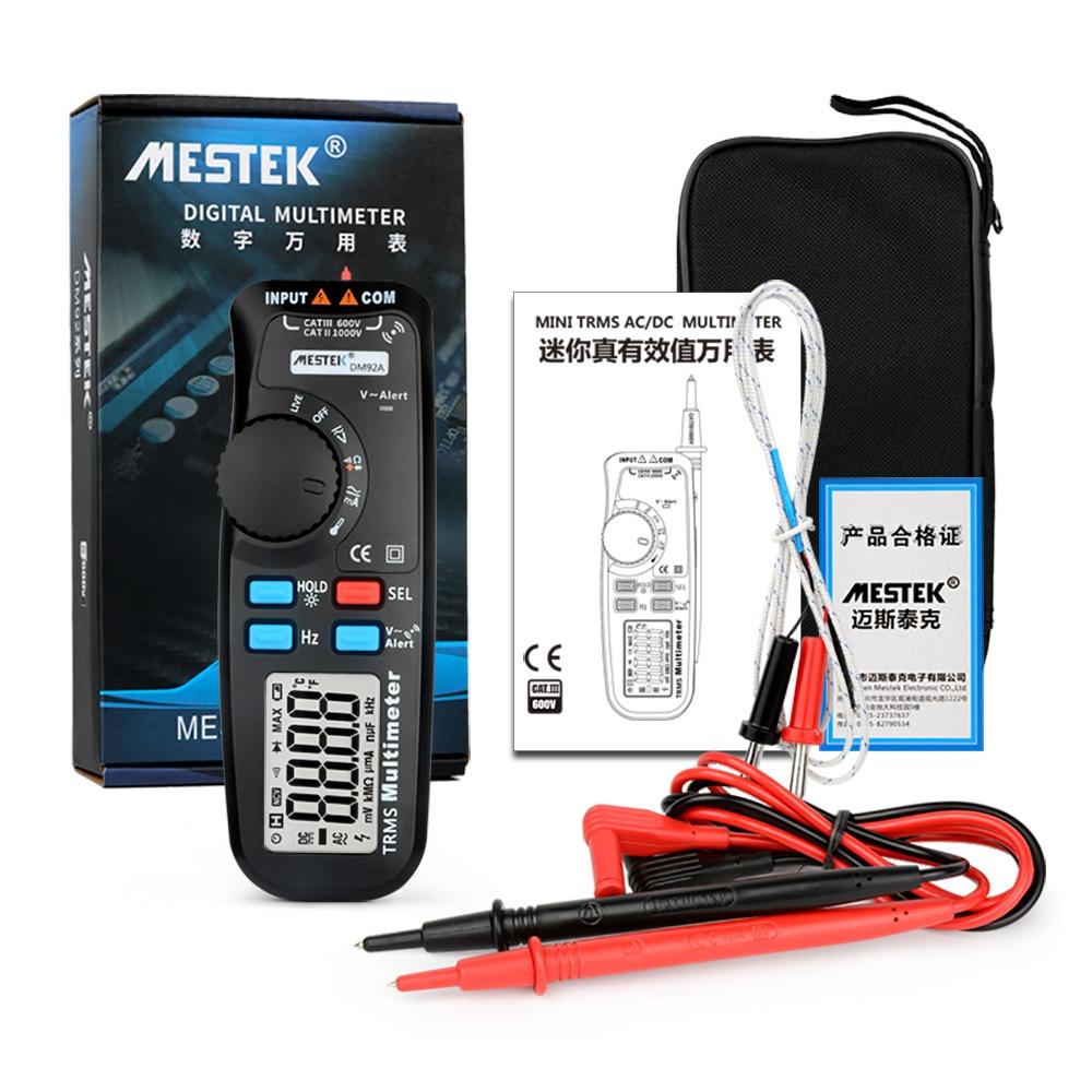 MESTEK мини мультиметр Авто Диапазон 6000 отсчетов одной рукой Управление anti-burn карман Multi измеритель емкости Температура измерения
