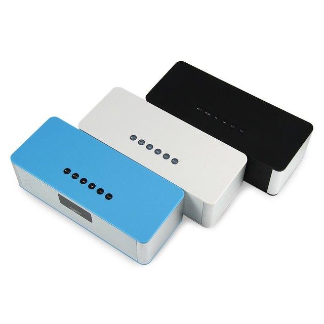 Almiscarado dy21l mini speaker alto-falantes multimídia portátil de alta fidelidade sem fio bluetooth v4.0 com stereo aux rádio fm display led cartão tf