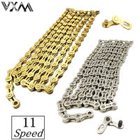 VXM Bicycle Chain 11 Speed Full Hollow Out Super Light Mountain Bike Chain Single 116 Links