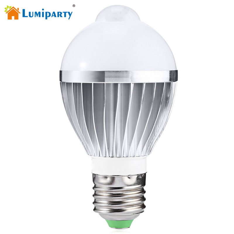 Lumiparty Pir Motion Led E27 5W Blub Infrared Motion Sensor Detection Sensor Globe Bulb Auto Switch Stairs Night Light litake led bulb lamp energy saving motion activated light bulb e27 9w pir infrared motion sensor light pir stairs night light