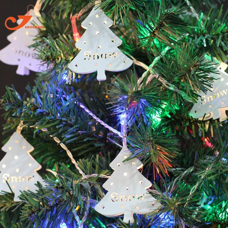 LED Lichtsnoer metal Christmas tree santa lighting (1)