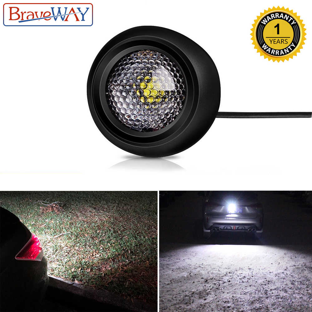 BraveWay LED External Reversing Light for Car SUV ATV Offroad Auxiliary Led Working Light 12V Auto Lamp