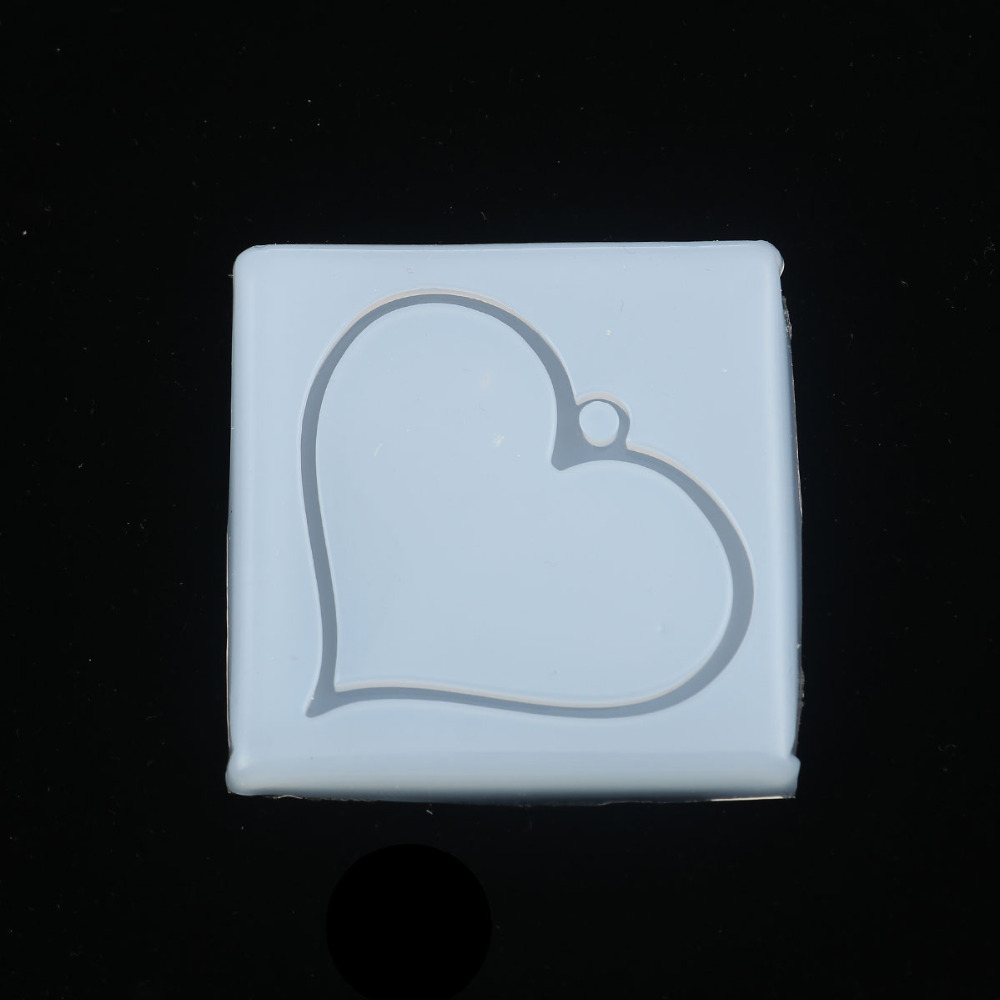 Doreen Box DIY Silicone Resin Mold For Jewelry Making Square White Heart Jewelry Tools 65mm(2 4/8