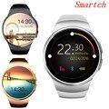 Reloj inteligente Smartch Bluetooth KW18 para Samsung HTC Huawei LG Xiaomi teléfonos inteligentes Android compatible con mensajes de llamada de sincronización