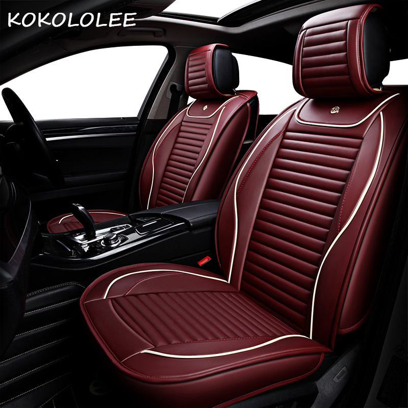 KOKOLOLEE cuoio dell'unità di elaborazione copertura di sede dell'automobile per seat altea ateca cordoba leon alhambra leon 2 toledo leon fr accessori auto auto-style