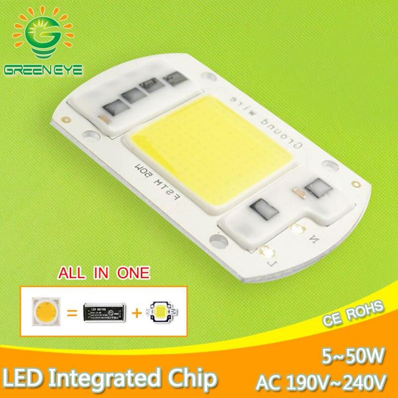 DIY High Lumen Integrated Driver Source COB LED Chip 220V 50W 30W 20W 5W Smart IC Replace Spotlight Flood Light Lamp Bulb