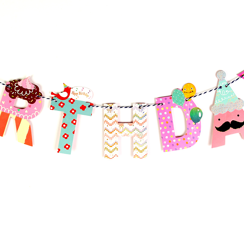 Children/'s Birthday Party Banner Pack Girl/'s Princess Flag /& Bunting